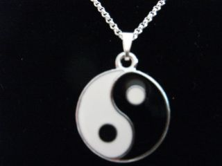 costume dress jewellery enamel ying yang necklace from united kingdom