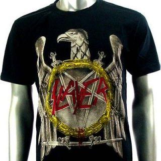 Sz M Slayer T Shirt Biker Heavy Metal Men Punk Rock Band S21