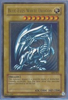 Yugioh Blue Eyes White Dragon SDK 001   Ultra   Used   Starter Deck