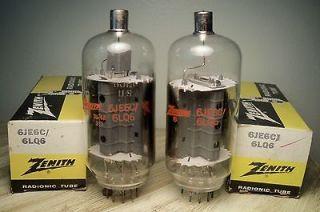 RADIO VACUUM TUBES 6JE6C / 6LQ6 ZENITH PR beam power amp ham radio