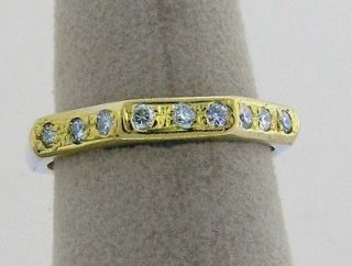 Vintage Bulgari Octagonal Ring in 18K Yellow Gold With Diamonds