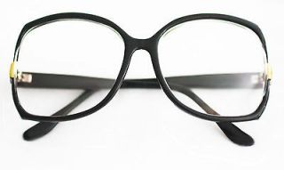 READING GLASSES LARGE OVERSIZE BLACK STATEMENT FRAMES 1.50 readers