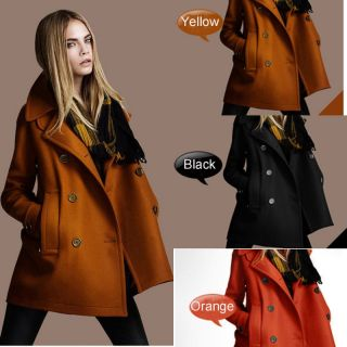 Gift Scarf+Europe Stylish Winter Warm Womens Wool Coat Wool Jacket