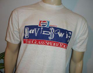 RaRe *1987 DAVID BOWIE* vintage rock concert tour t shirt (L) 80s DEAD