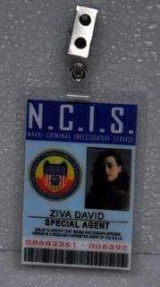 ncis tv series id badge special agent ziva david time