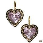 BETSEY JOHNSON Vampires series PINK CRYSTAL HEART BALLERINA Skeleton