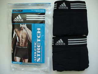 NEW 2 Adidas Athletic Moisture Wicking Climalite Mens Boxer Briefs
