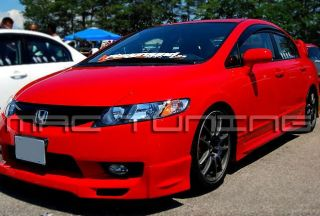 09 11 Honda Civic 4D Sedan MU NS JDM Front Bumper PU Lip N SPEC