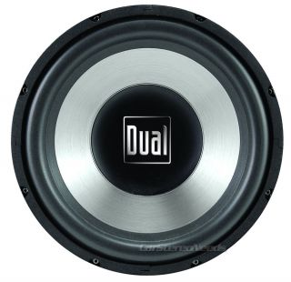 Dual SD12 12 Single 4 Ohm 500 Watt Subwoofer Car Audio Sub Woofer