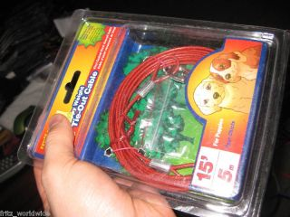 Puppy Toy Breed Dog Tie Out Cable 15 Feet Long New