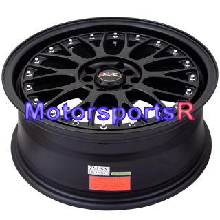 17 17x7 XXR 521 Flat Black Wheels Rims 5x114 3 03 04 07 Acura RSX Type
