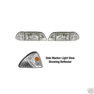 1987 1993 Ford Mustang GT LX Ultra Clear Headlight Kit