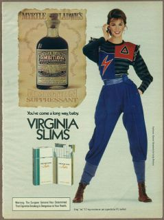 Slims Cigarettes 1982 print ad / magazine ad, 1980s womens fashion