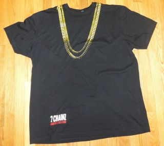 Chainz 2 Chains T Shirt (3X & Medium Sizes Available)