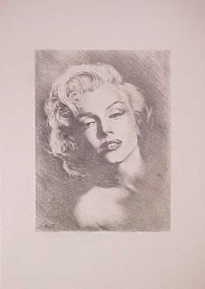 Marilyn Monroe Very Sexy Original Pencil Signed Drawing