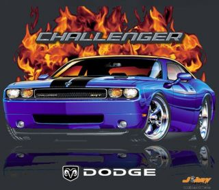 Mopar Muscle Car 2008 Dodge Challenger Flamed T Shirt