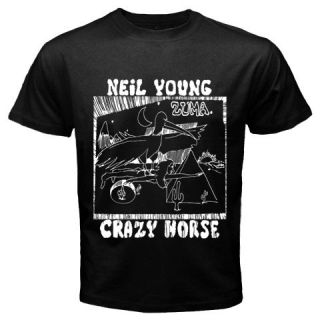 Neil Young Crazy Horse Zuma Black T Shirt S   5XL