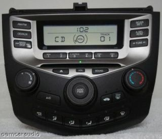 03 04 05 06 Honda Accord Radio Stereo CD Player 2AC2 Manual Temp