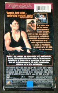 Rapid Fire 20th Century Fox 1992 VHS Brandon Lee