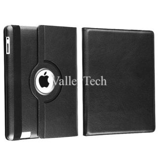 360 Rotating Smart Cover PU Leather Case for iPad 2 3 Screen Guard