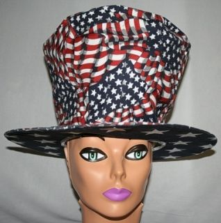 American Flag Top Hat 4th of July Patriot Accessory