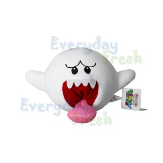 NEW Nintendo Super Mario Bros Boo Ghost 4 Soft Plush Doll Toy