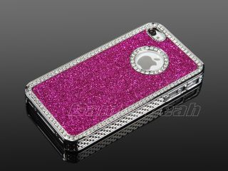 TPU Hard Case Cover w/Chrome Stand For iPhone 4 4S+Stylus&Screen Guard