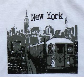 New York City Subway T Shirt New York Sky NYC Souvenir