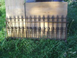 Large Wrought Iron Fence Section 25 High x 5 ft Long