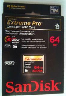 NEW, GENUINE SanDisk Extreme Pro 64GB CompactFlash Card UDMA 6 90MB/s
