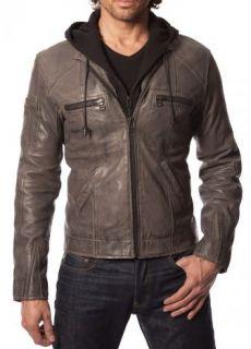Diamonds Tokyo Hoodie Distressed Motorcycle Leather Jacket JKTL