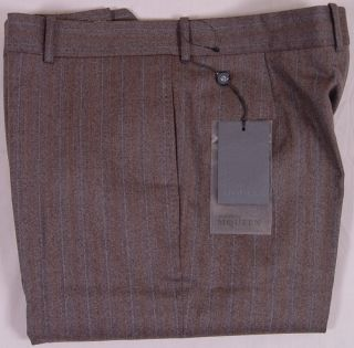 Alexander McQueen Pants $690 Brown Wool Cashmere Couture Dress Slacks
