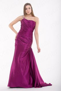 Line Sexy One Shoulder Formal Gown Dress Evening Prom Ball Party