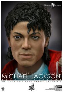 HOT TOYS MICHAEL JACKSON MJ BEAT IT 10TH ANNI. 1/6 ICONIC LEATHER