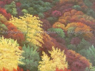 Landscape Oil Painting Canvas Deep Autumn Mountain View