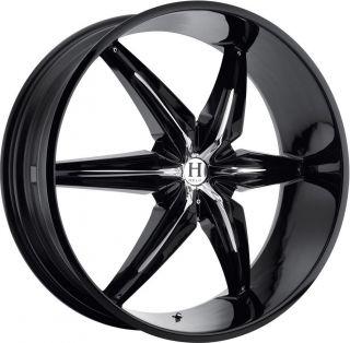 20 Black Helo Wheels Rims Tahoe Silverado Toyota Tundra Nissan Titan