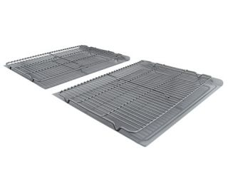 Calphalon Nonstick 4 Piece Large Cookie Sheet & Cooling Rack Set