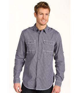 DKNY Jeans L/S Roll Tab Check Military 2 Pocket Shirt