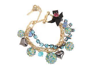 Betsey Johnson Blue Lagoon Fireball Charm Bracelet