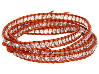 Chan Luu 32 Wrap w/ Crystal Silver Shade/Natural Orange