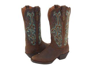 Justin J Flex Western Boot Sorrel Apache/Turquoise