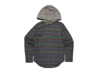 Quiksilver Kids   Switch Blade L/S Hooded Flannel (Big Kids)