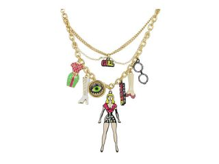 Betsey Johnson 60s Mod Girl Charm Necklace $52.99 $68.00 SALE