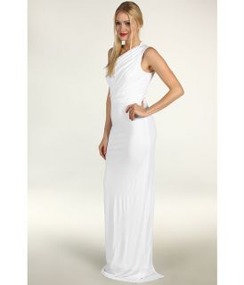 ABS Allen Schwartz Gathered Bodice Sleeveless Gown