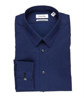calvin klein slim fit non iron solid dress shirt $