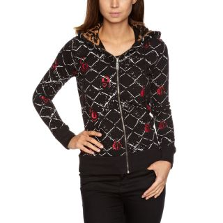 Abbey Dawn Large Cross My Heart Hoodie Avril Black Chain Fence Sweater