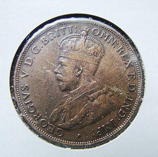 AUSTRALIA 1915 H ONE PENNY BRONZE COIN KING GEORGIVS V