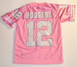 Aaron Rodgers #12 Pink Green Bay Jersey. Green Bay Packers, Rodgers