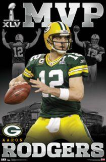 Aaron Rodgers SUPER BOWL XLV (2011) MVP Green Bay Packers Football