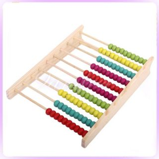 Wooden Abacus Counting Frame Maths Aid Educational Toy